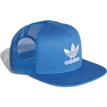 Boné trucker azul Trefoil da Adidas