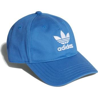Boné curvo azul blubir ajustável Trefoil Classic da Adidas