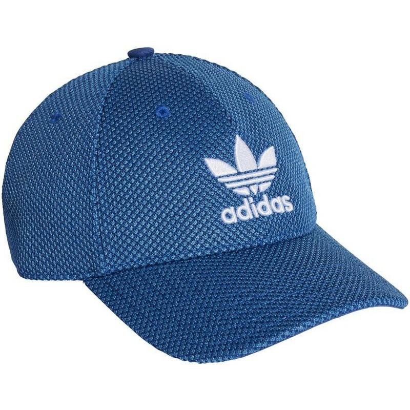 552d115f56f3e Boné curvo azul com logo branco Trefoil Primeknit da Adidas  comprar ...