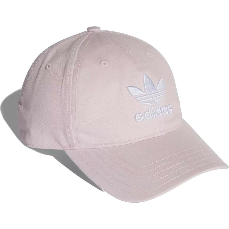 Boné curvo rosa claro ajustável Trefoil Classic da Adidas  comprar ... 1b30c086492