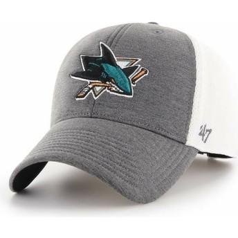 Boné curvo cinza da San Jose Sharks NHL MVP Haskell da 47 Brand