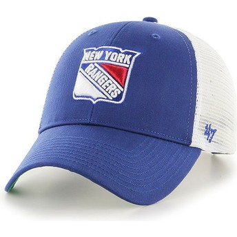 Boné trucker azul da New York Rangers NHL MVP Branson da 47 Brand