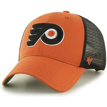 Boné trucker laranja da Philadelphia Flyers NHL MVP Branson da 47 Brand