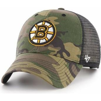 Boné trucker camuflagem da Boston Bruins NHL MVP Branson da 47 Brand