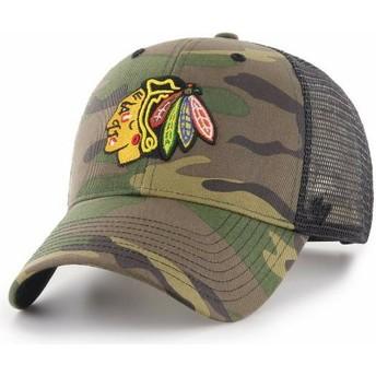 Boné trucker camuflagem da Chicago Blackhawks NHL MVP Branson da 47 Brand