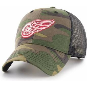 Boné trucker camuflagem da Detroit Red Wings NHL MVP Branson da 47 Brand