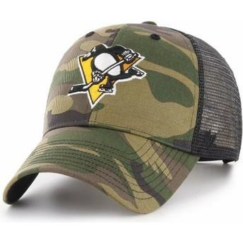Boné trucker camuflagem da Pittsburgh Penguins NHL MVP Branson da 47 Brand