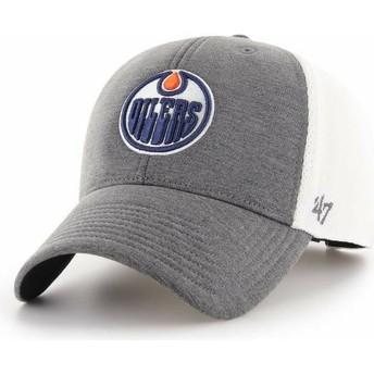 Boné curvo cinza da Edmonton Oilers NHL MVP Haskell da 47 Brand