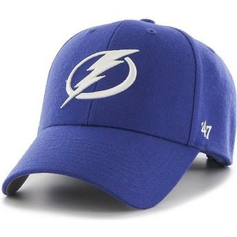 Boné curvo azul da Tampa Bay Lightning NHL MVP da 47 Brand