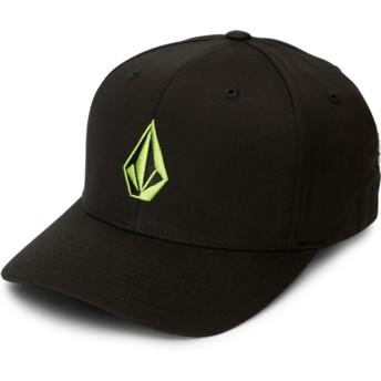 Boné curvo preto justo com logo verde Full Stone Xfit Thyme Green da Volcom