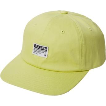 Boné curvo amarelo ajustável Case Shadow Lime da Volcom
