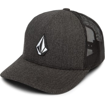 Boné trucker preto Full Stone Cheese Charcoal Heather da Volcom