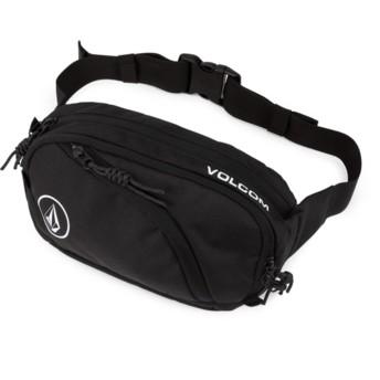 Pacote de cintura preto Waisted Pack Black da Volcom