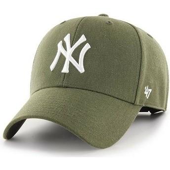 Boné curvo castanho da New York Yankees MLB MVP da 47 Brand