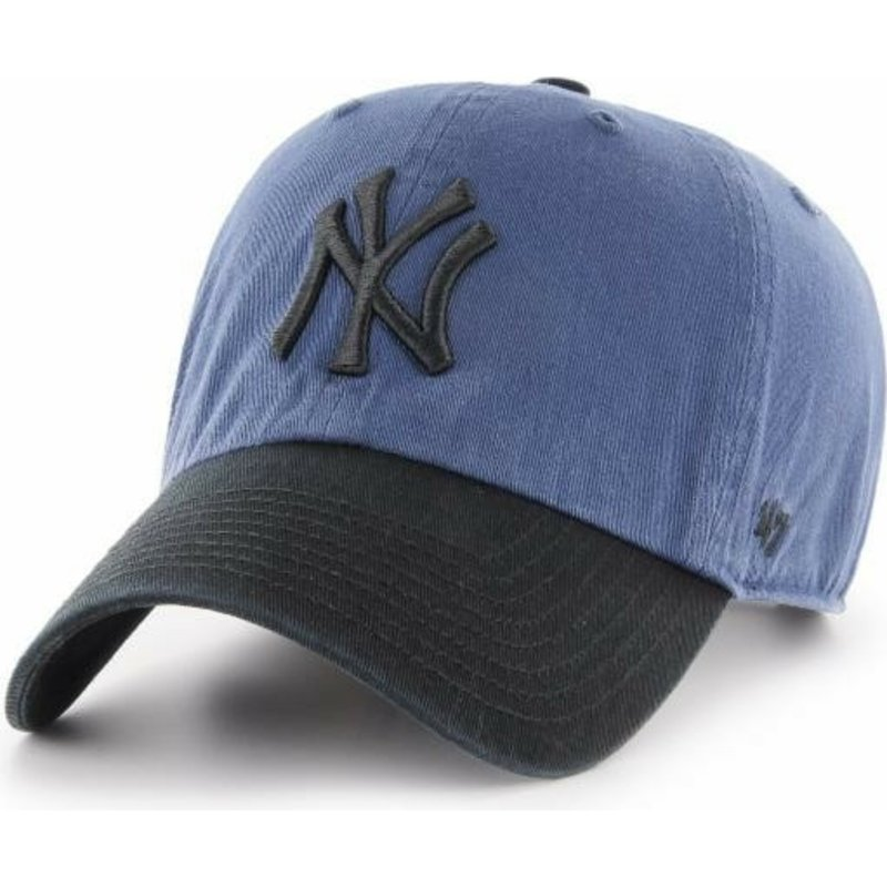 bone-curvo-azul-marinho-com-pala-e-logo-preto-da-new-york-yankees-mlb-clean-up-two-tone-da-47-brand