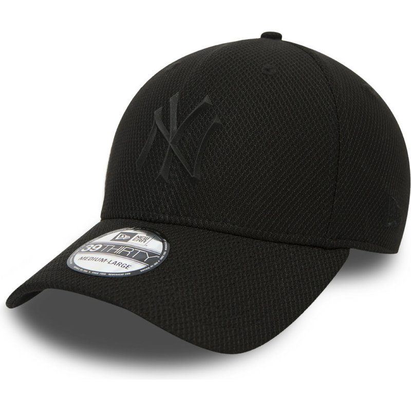 bone-curvo-preto-justo-com-logo-preto-para-crianca-39thirty-rubber-prime-da-new-york-yankees-mlb-da-new-era
