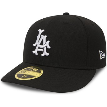 Boné curvo preto justo 59FIFTY Coop Wool da Los Angeles Dodgers MLB da New Era