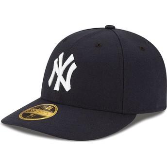 Boné curvo azul marinho justo 59FIFTY Low Profile Authentic da New York Yankees MLB da New Era