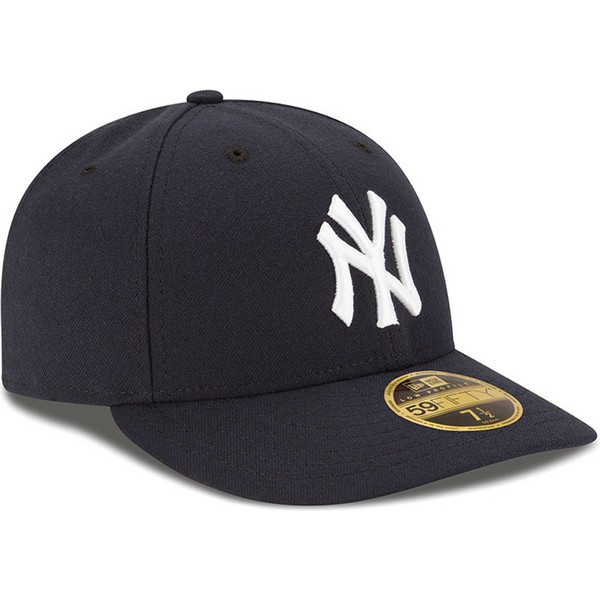 bone-curvo-azul-marinho-justo-59fifty-low-profile-authentic-da-new-york-yankees-mlb-da-new-era