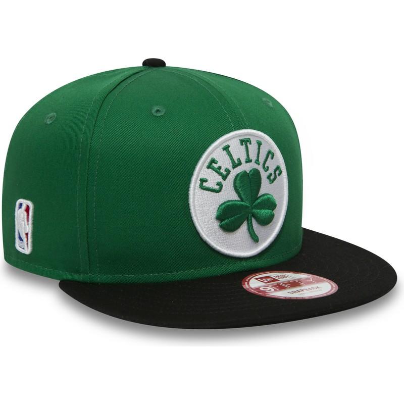 Boné plano verde e preto snapback 9FIFTY da Boston Celtics NBA da ... 6d013774383