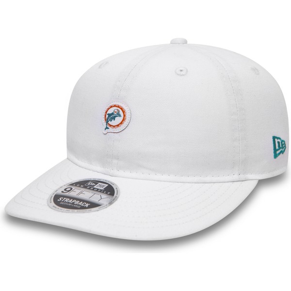 bone-plano-branco-snapback-9fifty-low-profile-unstructured-da-miami-dolphins-nfl-da-new-era