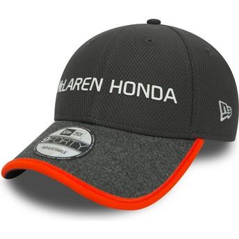 Boné curvo cinza ajustável 9FORTY da McLaren Racing Formula 1 da New Era