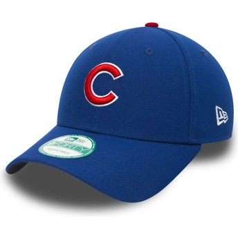 Boné curvo preto ajustável 9FORTY The League da Chicago Cubs MLB da New Era