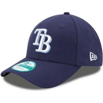 Boné curvo azul marinho ajustável 9FORTY The League da Tampa Bay Rays MLB da New Era