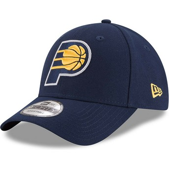 Boné curvo azul marinho ajustável 9FORTY The League da Indiana Pacers NBA da New Era