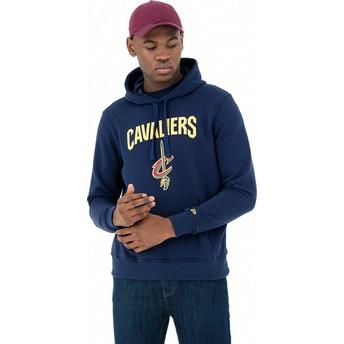 Moletom com capuz azul marinho Pullover Hoody da Cleveland Cavaliers NBA da New Era