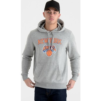 Moletom com capuz cinza Pullover Hoody da New York Knicks NBA da New Era