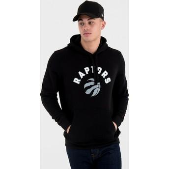 Moletom com capuz preto Pullover Hoody da Toronto Raptors NBA da New Era