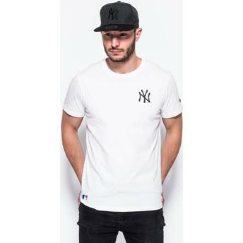Camiseta de manga curta branco East Coast Graphic da New York Yankees MLB da New Era
