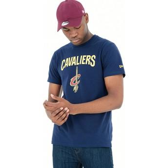 Camiseta de manga curta azul da Cleveland Cavaliers NBA da New Era