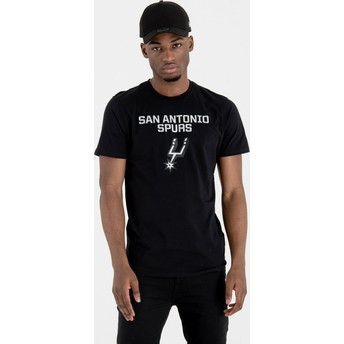 Camiseta de manga curta preto da San Antonio Spurs NBA da New Era