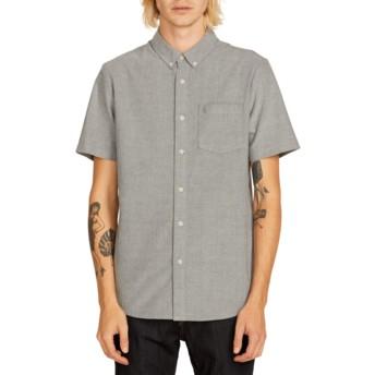 Camisa manga curta cinza Everett Oxford Black da Volcom