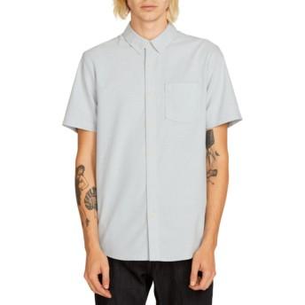 Camisa manga curta azul Everett Oxford Wrecked Indigo da Volcom