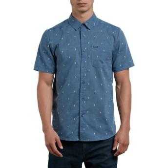 Camisa manga curta azul Gladstone Deep Blue da Volcom