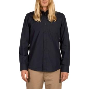 Camisa manga comprida azul marinho Everett Solid Navy da Volcom