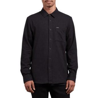 Camisa manga comprida preta Caden Solid Black da Volcom
