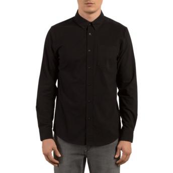 Camisa manga comprida preta Oxford Stretch Black da Volcom
