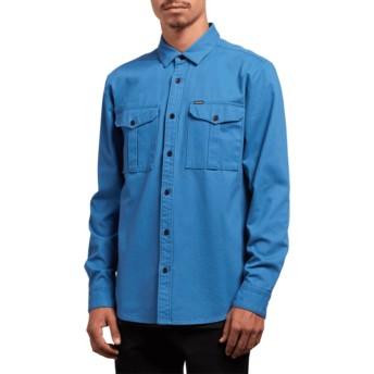 Camisa manga comprida azul Huckster Used Blue da Volcom