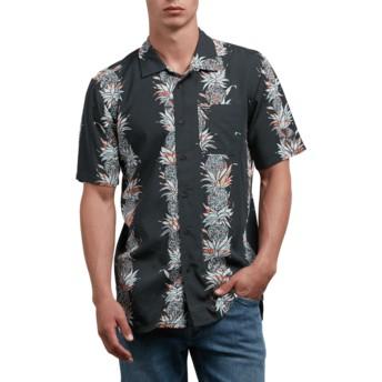 Camisa manga curta preta Palm Glitch Stealth da Volcom