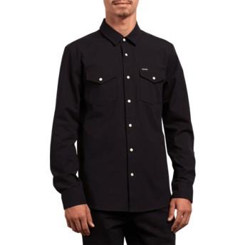 Camisa manga comprida preta Hayes Black da Volcom