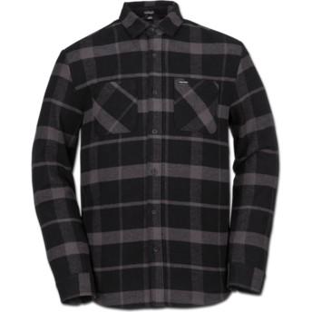 Camisa manga comprida preta aos quadrados Shader Black da Volcom