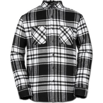 Camisa manga comprida branca e preta aos quadrados Shader White da Volcom
