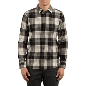 Camisa manga comprida cinza e preta aos quadrados Caden Cloud da Volcom