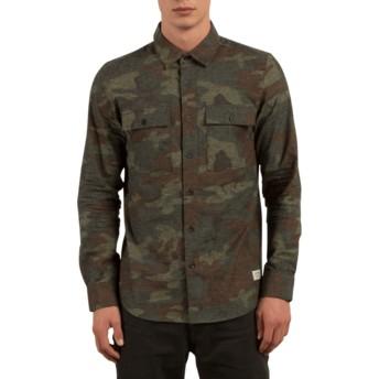 Camisa manga comprida camuflagem Woodland Camouflage da Volcom