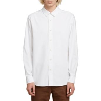 Camisa manga comprida branca Oxford Stretch White da Volcom