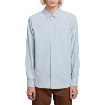 Camisa manga comprida azul Oxford Stretch Wrecked Indigo da Volcom